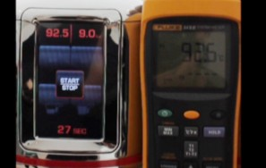 La Cimbali M100  추출 온도 측정
